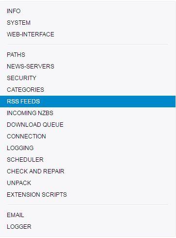 Télécharger sur Usenet via NZBGet et les flux RSS